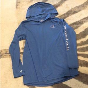Vinyard Vines hooded performance long sleeve shirt